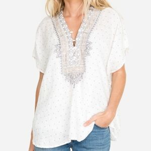 New JOHNNY WAS Peri Linen P11019-2 Tunic Top